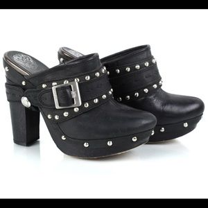 Hot Vince Camino studded Clogs Black Leather